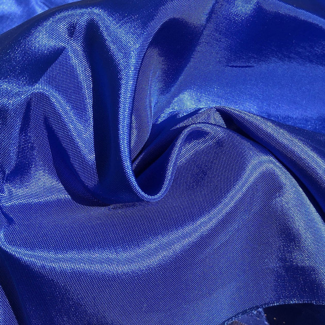 62 Ocean Blue Glossy Shiny 100% Polyester Woven Fabric By the Yard