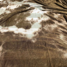 "Load image into Gallery viewer, 64"" Green Striped & Brown Tie Dyed Modal Spandex Jersey Knit Fabric By the Yard - APC Fabrics"