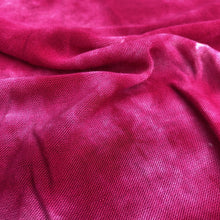 Load image into Gallery viewer, 64 Fuchsia Hot Pink & White Modal Spandex Lycra Stretch Blend Tie Dye Jersey Knit Fabric By Yard