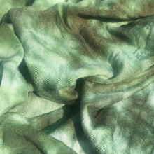 Load image into Gallery viewer, 64 Green & White Tie Dyed Modal Spandex Stretch Jersey Knit Fabric By the Yard