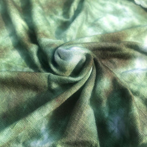 64 Green & White Tie Dyed Modal Spandex Stretch Jersey Knit Fabric By the Yard