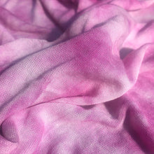 Load image into Gallery viewer, 64 Pink & White Tie Dyed Modal Spandex Stretch Jersey Knit Fabric By the Yard