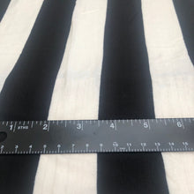 "Load image into Gallery viewer, 66"" Black & White Striped Modal Spandex Lycra Stretch Knit Fabric By the Yard - APC Fabrics"