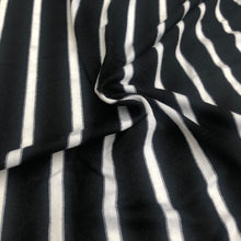 Load image into Gallery viewer, 66 Black White Striped Modal Spandex Yarn Dyed Knit Fabric By the Yard