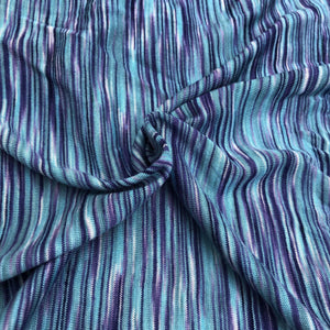 "66"" Blue & Purple Space Dyed 100% Bamboo Knit Fabric By the Yard - APC Fabrics"