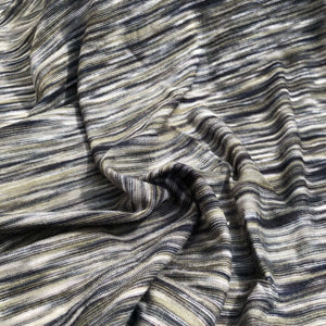 66 Gray Green Black Space Dyed 100% Bamboo Knit Fabric