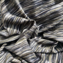 Load image into Gallery viewer, 66 Gray Green Black Space Dyed 100% Bamboo Knit Fabric