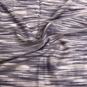 66 Purple White Gray Space Dyed 100% Bamboo Knit Fabric By the Yard