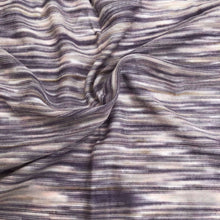 "Load image into Gallery viewer, 66"" Purple, White, & Gray Space Dyed 100% Bamboo Knit Fabric By the Yard - APC Fabrics"