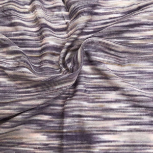 "66"" Purple, White, & Gray Space Dyed 100% Bamboo Knit Fabric By the Yard - APC Fabrics"