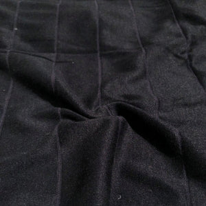 "68"" Black Striped Modal Spandex Stretch Blend Piece Dyed Knit Fabric By the Yard - APC Fabrics"