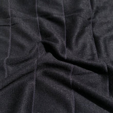 Load image into Gallery viewer, 68 Black Striped Modal Spandex Stretch Blend Piece Dyed Knit Fabric By the Yard