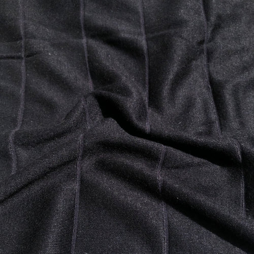 68 Black Striped Modal Spandex Stretch Blend Piece Dyed Knit Fabric By the Yard