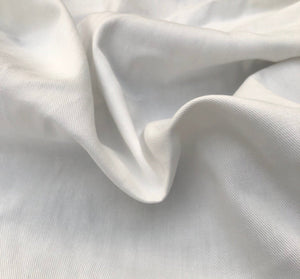 "60"" 100% Organic Cotton Twill 7 OZ White Apparel & Face Mask Woven Fabric By the Yard - APC Fabrics"