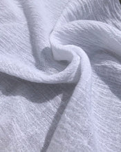 "Load image into Gallery viewer, 56"" 100% Cotton Gauze Wrinkly Off White Ivory Woven Fabric By the Yard - APC Fabrics"