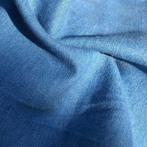 "58"" Solid Cotton Denim Indigo Sky Blue Medium Woven Fabric By the Yard - APC Fabrics"
