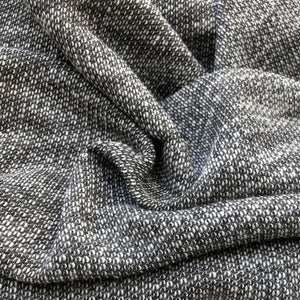 "52"" French Terry Cotton Two Toned Pepper Heavy Sweater Knit Fabric By the Yard - APC Fabrics"