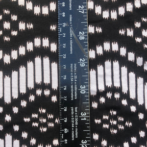 "60"" Modal Lycra Spandex Stretch Black White Jersey Knit Fabric By the Yard - APC Fabrics"