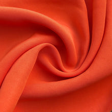 "Load image into Gallery viewer, 58"" 100% Rayon Faille Blitz Orange & Lime Green Light Weight Woven Fabric By the Yard"