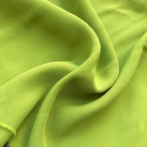 "58"" 100% Rayon Faille Blitz Orange & Lime Green Light Weight Woven Fabric By the Yard"