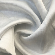 "Load image into Gallery viewer, 56"" Satin Linen & Tencel Lyocell White Woven Fabric By the Yard - APC Fabrics"