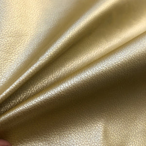 "60"" Gold Vinyl Pleather Scale Like Heavy Fabric By the Half Yard - APC Fabrics"