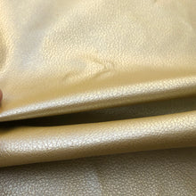 "Load image into Gallery viewer, 60"" Gold Vinyl Pleather Scale Like Heavy Fabric By the Half Yard - APC Fabrics"