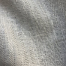 "Load image into Gallery viewer, 58"" 100% Linen Herringbone 6 OZ PFD Ivory Woven Fabric By the Yard - APC Fabrics"