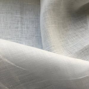 "62"" 100% Linen 5.5 OZ White Woven Fabric By the Yard - APC Fabrics"