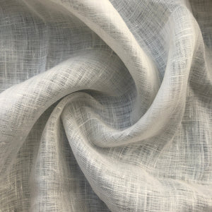 "56"" 100% Linen Off White 3 OZ Handkerchief Woven Fabric By the Yard - APC Fabrics"