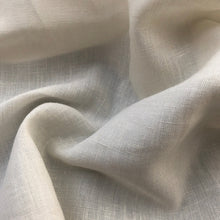 "Load image into Gallery viewer, 60"" Linen Cotton 3.5 OZ Handkerchief Ivory Woven Fabric By the Yard - APC Fabrics"