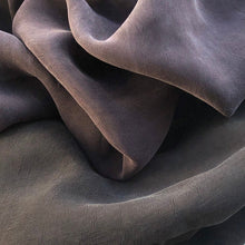 "Load image into Gallery viewer, 58"" 100% Rayon Bemberg Enzyme Washed Silk-Hand Purple & Black 7 OZ Light Woven Fabric By the Yard - APC Fabrics"