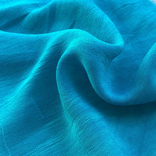 "Load image into Gallery viewer, 44"" Neon Blue 100% Tencel Lyocell Cupro Georgette 4.5 OZ Light Woven Fabric By the Yard - APC Fabrics"