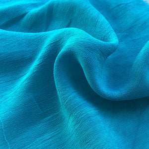 "44"" Neon Blue 100% Tencel Lyocell Cupro Georgette 4.5 OZ Light Woven Fabric By the Yard - APC Fabrics"