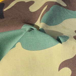 "60"" Cotton Camoflauge Camouflage Camo Print Poplin Woven Good For Face Mask Fabric By the Yard - APC Fabrics"