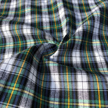"Load image into Gallery viewer, 60"" 100% Cotton Yarn Dyed Checkered Gingham Green Yellow & White Woven Fabric By the Yard - APC Fabrics"