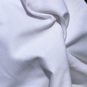 "60"" 100% Cotton Twill 7 OZ Optic White Apparel & Face Mask Woven Fabric By the Yard - APC Fabrics"