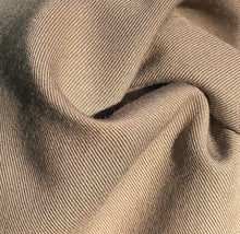 "Load image into Gallery viewer, 60"" Rayon Blend Twill 6.5 OZ Khaki Apparel & Face Mask Woven Fabric By the Yard - APC Fabrics"
