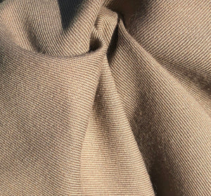 "60"" Rayon Blend Twill 6.5 OZ Khaki Apparel & Face Mask Woven Fabric By the Yard - APC Fabrics"