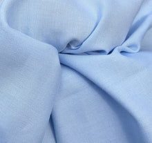 "Load image into Gallery viewer, 58"" 100% Cotton Pima Chambray 6 OZ Light Baby Blue Apparel Woven Fabric By the Yard - APC Fabrics"
