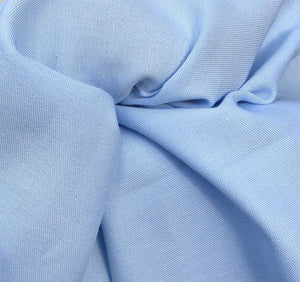 "58"" 100% Cotton Pima Chambray 6 OZ Light Baby Blue Apparel Woven Fabric By the Yard - APC Fabrics"