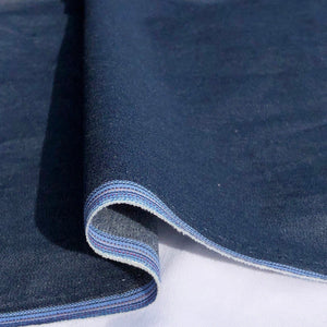 "58"" 100% Cotton Pima Chambray Denim 6 OZ Dark Blue Apparel Woven Fabric By the Yard - APC Fabrics"