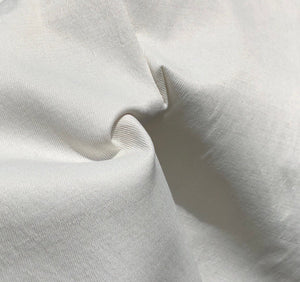 "58"" PFD Cotton Rayon Lycra Spandex Stretch Twill White 7.5 OZ Apparel Woven Fabric By the Yard - APC Fabrics"