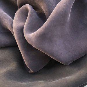 "58"" 100% Rayon Bemberg Enzyme Washed Silk-Hand Purple & Black 7 OZ Light Woven Fabric By the Yard - APC Fabrics"