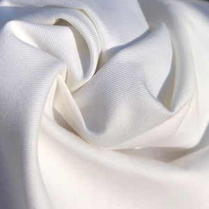 "60"" 100% Pima Cotton Twill 6 OZ Tight Weave White Apparel & Face Mask Woven Fabric By the Yard - APC Fabrics"