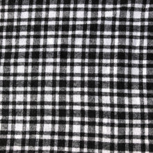 "Load image into Gallery viewer, 60"" 100% Cotton Flannel Checkered Gingham Black White & Gray Woven Fabric By the Yard - APC Fabrics"