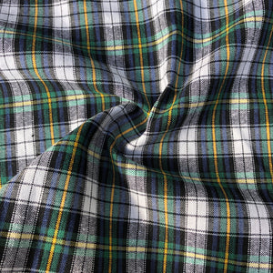 "60"" 100% Cotton Yarn Dyed Checkered Gingham Green Yellow & White Woven Fabric By the Yard - APC Fabrics"