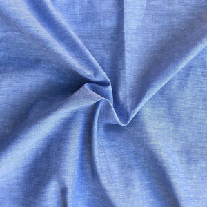 "58"" 100% Cotton Pima Chambray Voile Baby Blue Light Woven Fabric By the Yard - APC Fabrics"