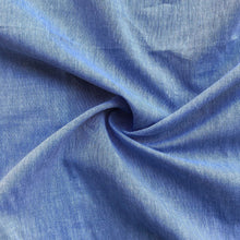 "Load image into Gallery viewer, 58"" 100% Pima Cotton Chambray Voile Baby Blue Light Woven Fabric By the Yard - APC Fabrics"