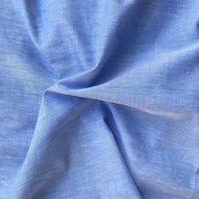 "Load image into Gallery viewer, 58"" 100% Cotton Pima Chambray Voile Baby Blue Light Woven Fabric By the Yard - APC Fabrics"